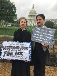 In costumes at the March for Science