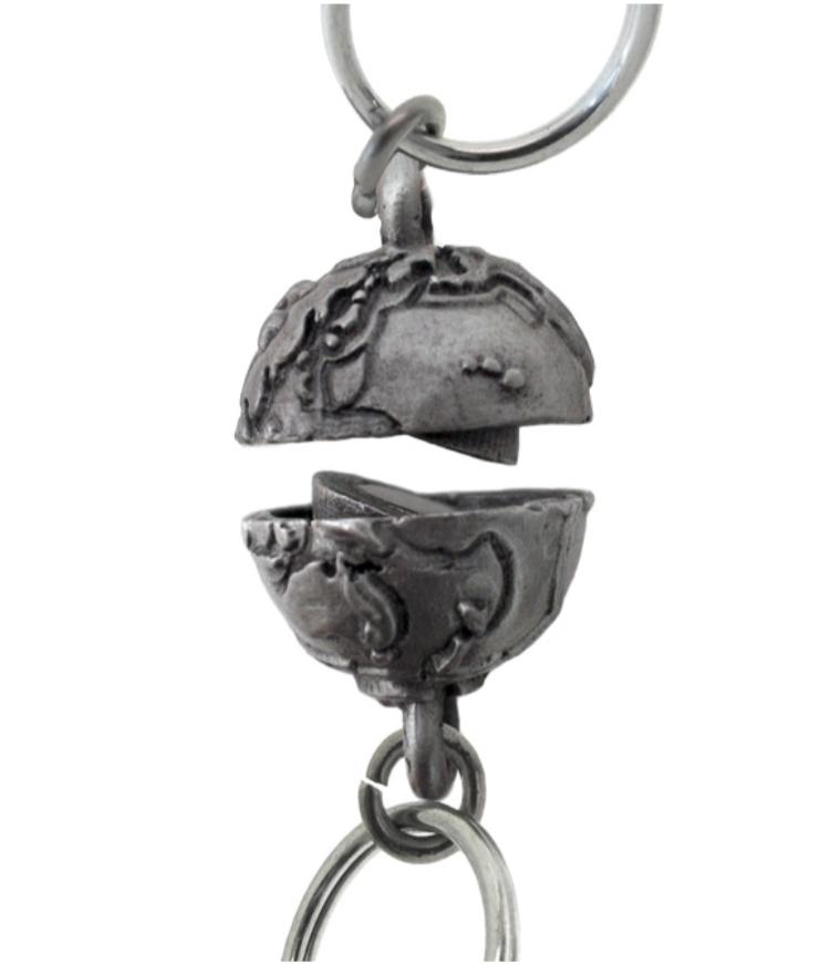 two-part metal globe